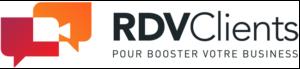 Logo et accroche RDVClients pour booster votre business